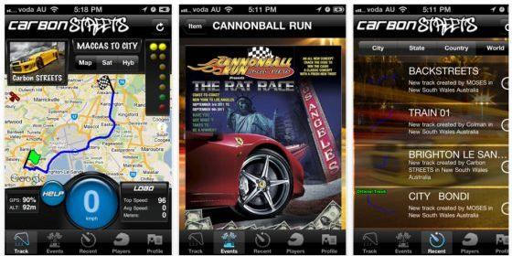 Mit Carbon Streets für iPad und iPhone echte Straßenrennen bestreiten – bis 12. Mai kostenlos runterladen