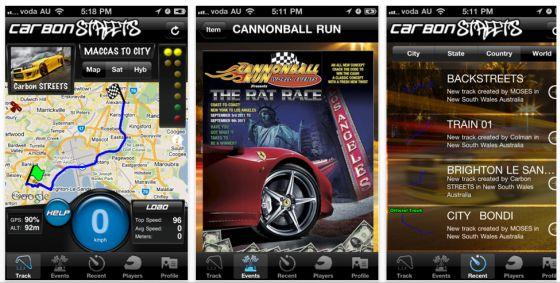 Carbon STREETS App für iPhone und iPad