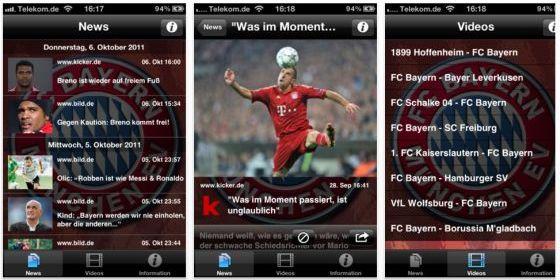 News von Deinem Lieblingsverein in der Bundesliga als App kurzfristig kostenlos für iPhone und iPod Touch