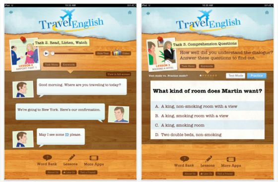 Travel English HD für iPad Screenshot