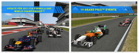 F1 2011  Game für iPhone und iPad Screenshots