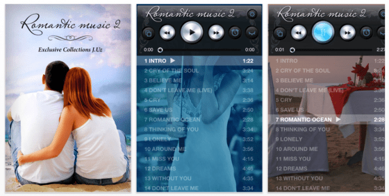Romantic Music 2 Screenshots der Universal-App für iPhone und iPad
