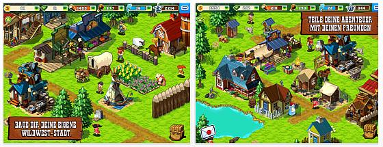 Deine Stadt im Wilden Westen auf iPad und iPhone – kostenloses Spiel von Gameloft