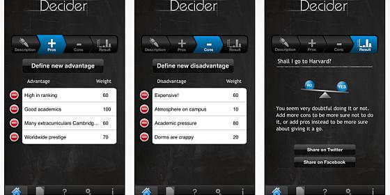 Universal-App zur Unterstützung bei Entscheidungen heute gratis