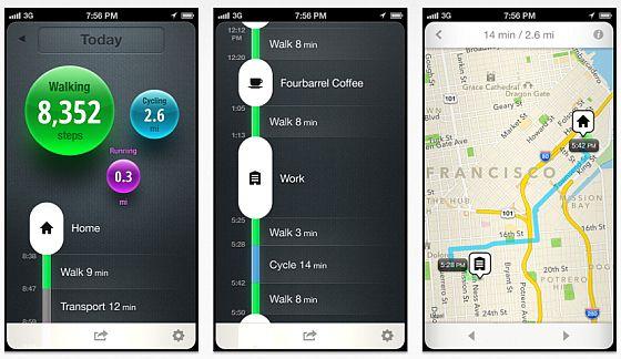 Moves, iPhone-App Screenshots