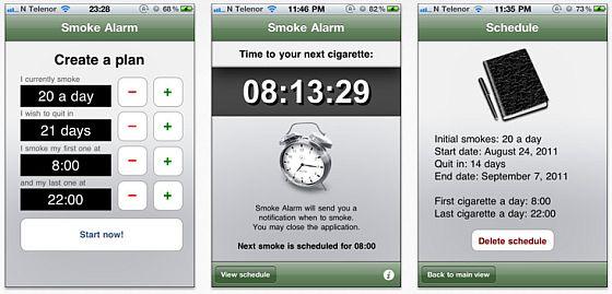 Smoke Alarm Screenshots