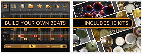 iAmDrums - App für iPhone und iPad - Screenshots