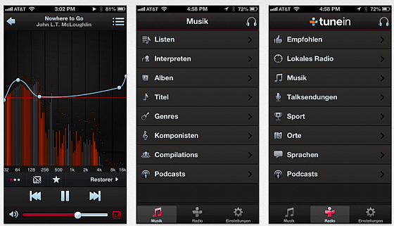 Denon Audio Screenshots