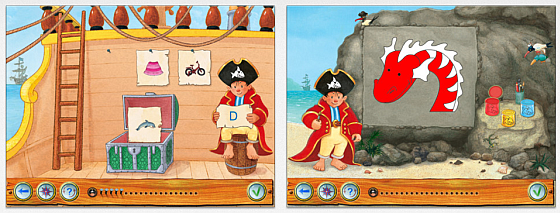 Capt'n Sharky iPad App Screenshot