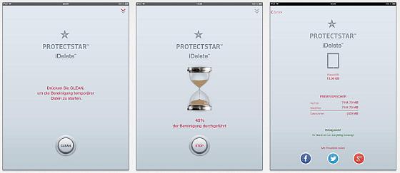 Elegante Erscheinung: Mit iDelete löscht man temporäre Dateien auf iPhone und iPad mit einem Fingertipp.