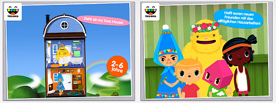Toca House Screens