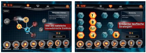 Bio Inc. Screens auf dem iPad