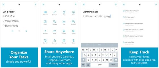 Wer eine schnelle App zum Erfassen von Notizen sucht, ist mit Quick Drafts gut bedient.