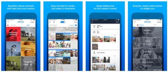 Storyo macht aus Deinen Fotos kleine Geschichten - dabei helfen die Metadaten der Bilder.