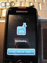 Samsung Galaxy Spica i5700 en Modo Downloading