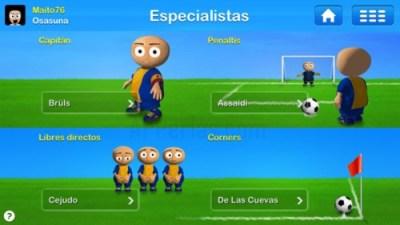 Especialistas juego de Entrenador de fútbol