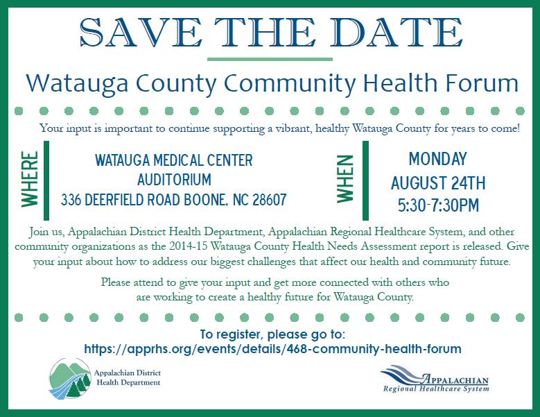 Watauga County Community Health Forum