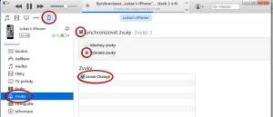Synchronizace s iPhonem