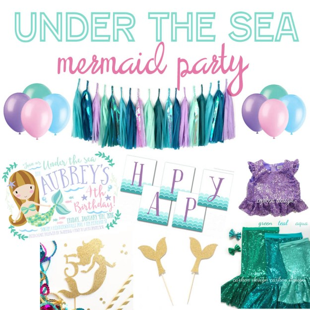 Mermaid Under the Sea Party Inspiration
