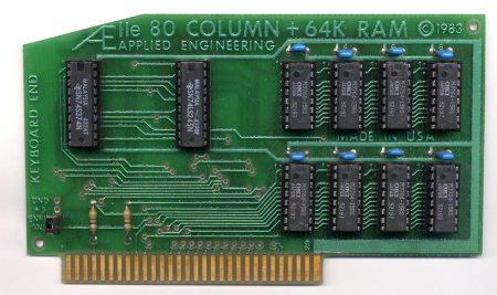 IIe 80 Column + 64K Ram Card
