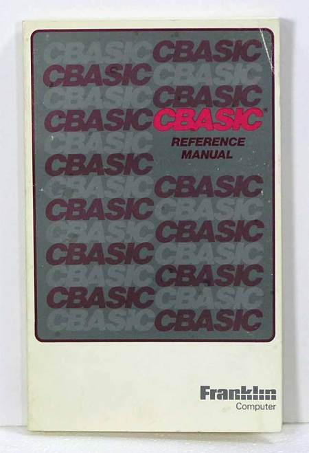 CBASIC Reference Manual ~ Franklin Computer