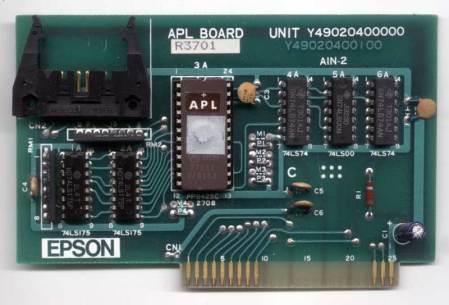 Epson APL Parallel Printer Card (Apple II)