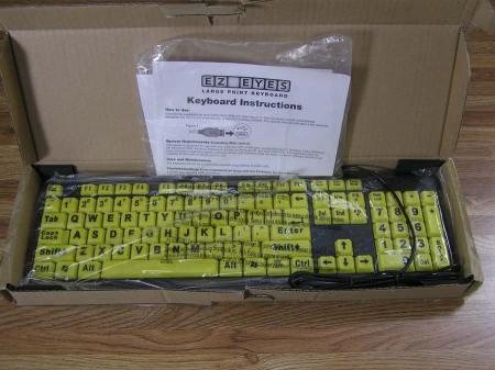 EZ Eyes Large Print Keyboard