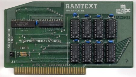 MPC RAMTEXT for the Apple IIe Memory