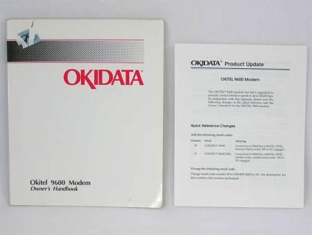 Okidata Okitel 9600 Modem Owner's Handbook