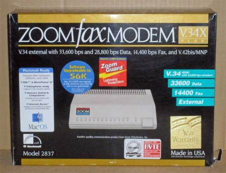 Zoom Fax Modem V.34X Plus