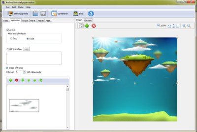 Android live wallpaper maker full Windows 7 screenshot - Windows 7 Download