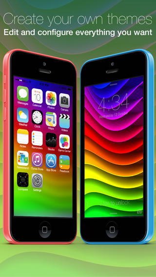 HD Wallpapers for IOS 7 app review: easily create your very own personalized iPhone visual ...