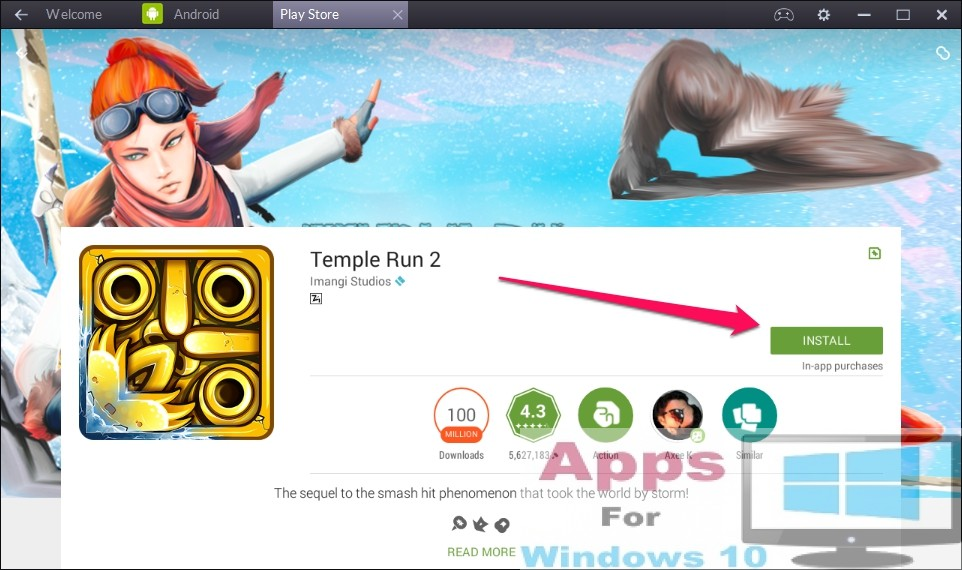 temple run 2 free  for windows mobile