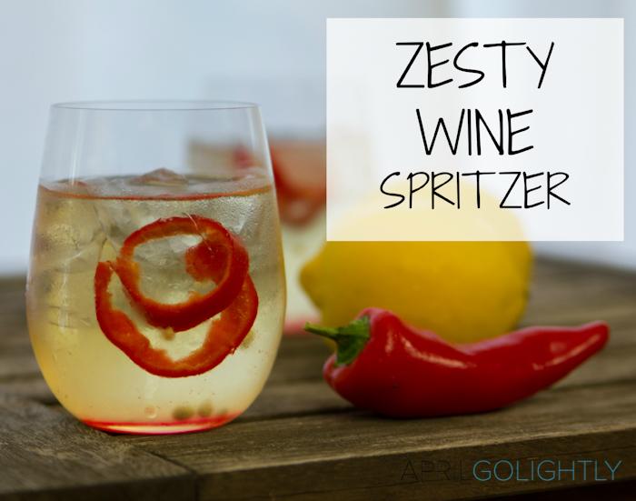 Zesty White Wine Chardonnay Spritzer Cocktail Recipe_