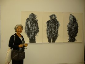 At the evening exhibitions Keiko foud the work of artists she knew.