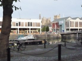 and a bit sorry to leave Bristol's floating harbor!
