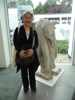 East meets west at Bower Ashton, which was decorated with plaster casts (Keiko and Artemis)