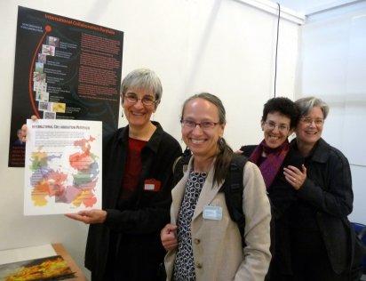 April Vollmer at April Katz's poster presentation (with Deborah and Teresa)