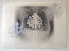 half sheets of Gozen 17 x 26 inches, digital and silkscreen
