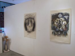 Exhibition of international artists using mixed techniques in woodcut and showing new approaches to mokuhanga.