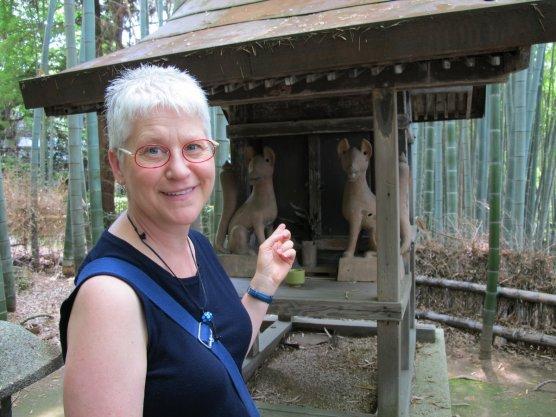 Karen's Inari shrine in the blue bamboo