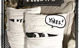 Mummy Pillows – Easy Halloween Decor