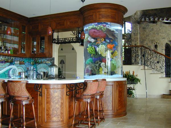460 Gallon Cylinder Marine Fish Tank, Aquarium Design, Marine