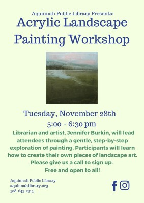 Acrylic Landscape Painting Workshop November