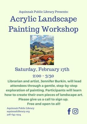 Acrylic Landscape Painting Workshop November (3)