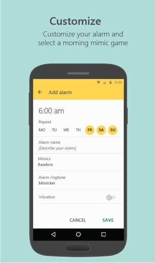 تطبيق Mimicker Alarm منبه ذكي من مايكروسوفت