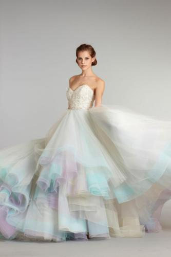 your wedding colors purple and blue colored wedding dress Your Wedding in Colors Purple and Blue