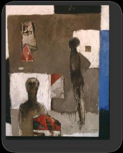 """""""بدون عنوان"""" 2003 محمد القاسمي زيت على قماش، :160/135صم"""