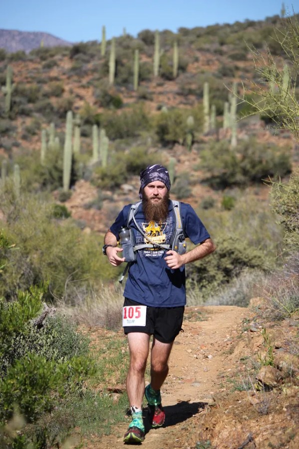 Running near Gloriana Mine around mile 23.
