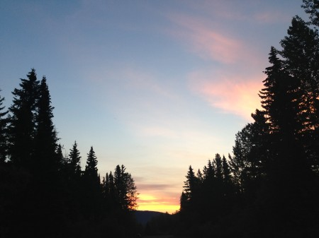 Sunset from Forest Rose Campground.